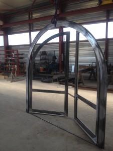 fabrication menuiserie acier cintré goudard